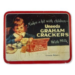 Vintage Uneeda Reproduction Ad Tin Wall Hanging